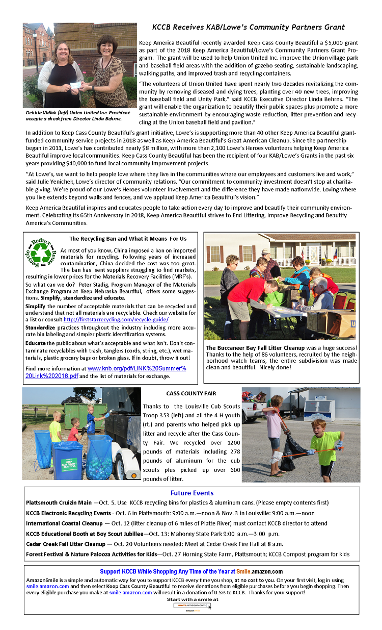 2018 Fall Newsletter pg.2