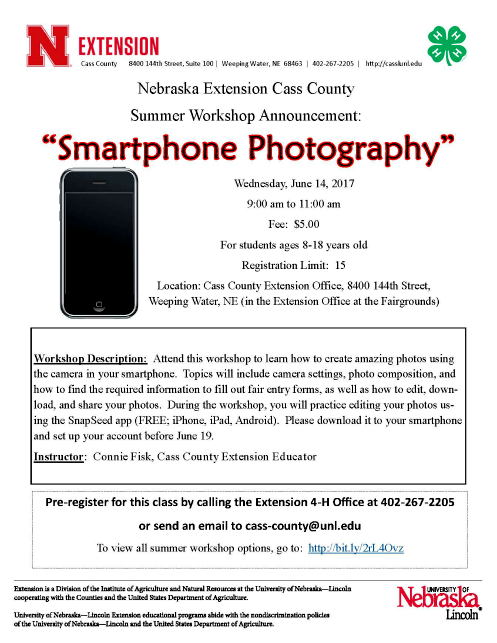 2017 06 14 4H 7 Smarthone Photography flyer