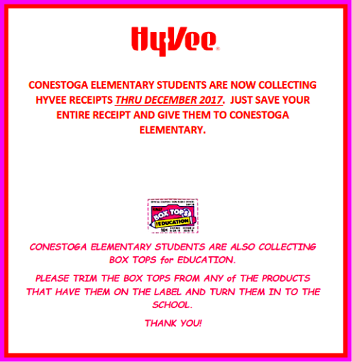 2017 10 25 CONESTOGA BOX TOPS HYVEE