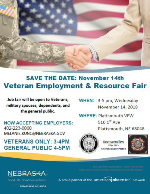 2018 10 17 NDOL Veteran Job Fair 1