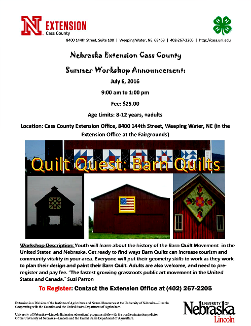 2016 06 29 WW Co Ext Barn Quilts