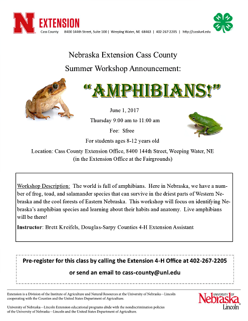 2017 05 24 XTNSN Amphibians workshop flyer