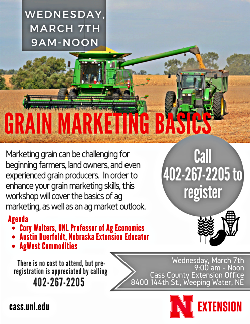 2018 02 07 UNL EXT Grain MarketingBasicsMarch7