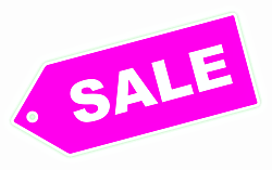 pink sale label