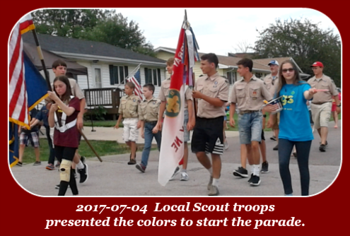 2017 07 04 Scouts carry colors