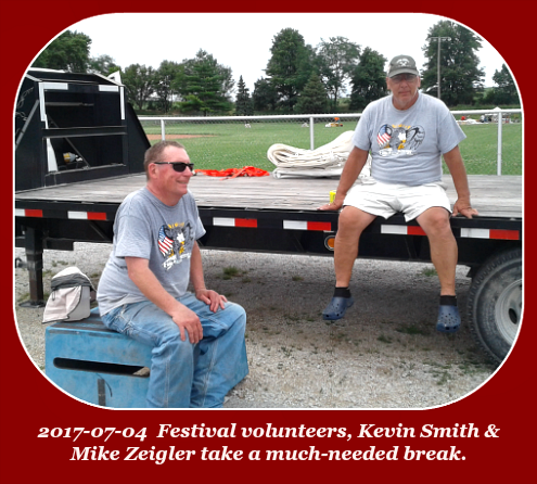 2017 07 04 Volunteers Kevin Smith Mike Zeigler