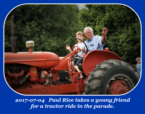 2017 07 04 Paul Rice parade friend