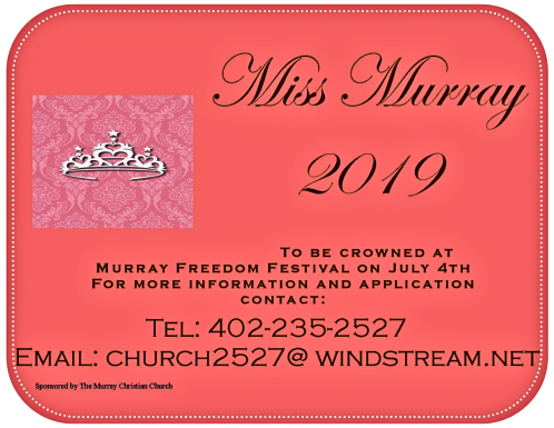 2019 05 08 MCC Miss Murray 2019 Flyer
