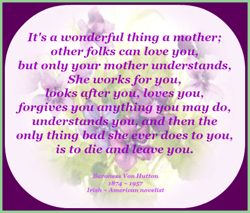 2016 05 04 Mothers day quote violets