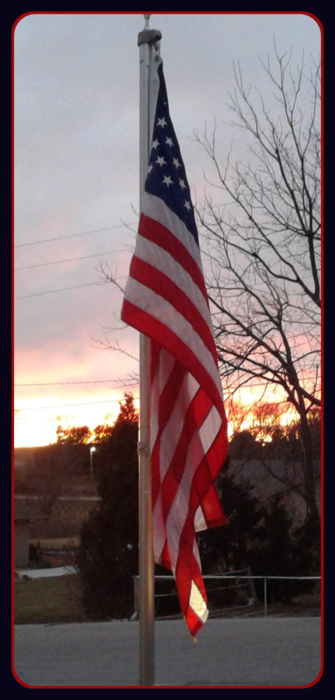 2019 01 07 Sunset flag 1