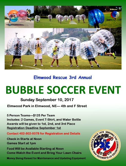 2017 07 19 ELM Bubble Soccer Flyer 2017