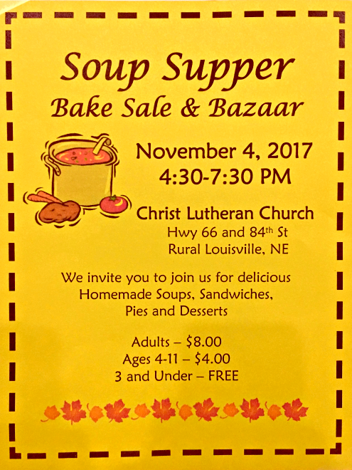 2017 10 25 LSV Christ Lutheran bake sale