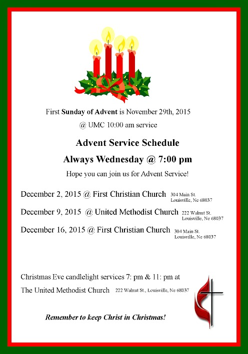 2015-11-25 LSV_UMC_Advent_Service_schedule_2015