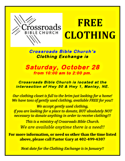 2017 10 25 MNLYCrossroads bible church clothes giveaway