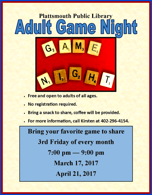 2017 03 15 PLT Library Adult Game Night
