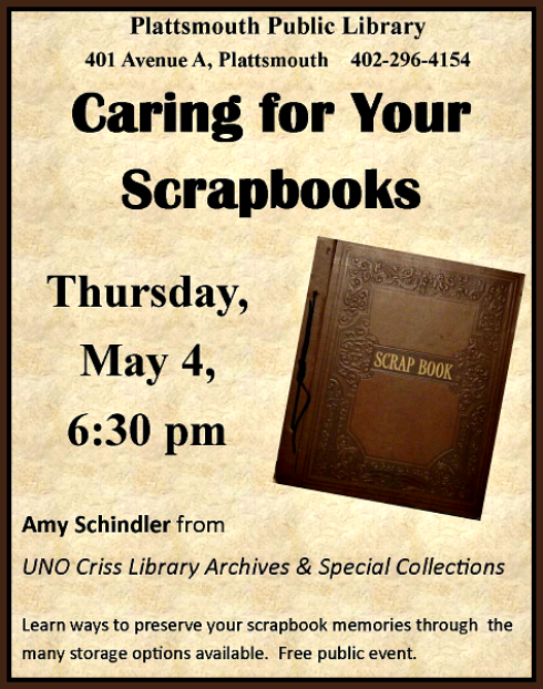 2017 04 26 PLT Caring for Your Scrapbooks