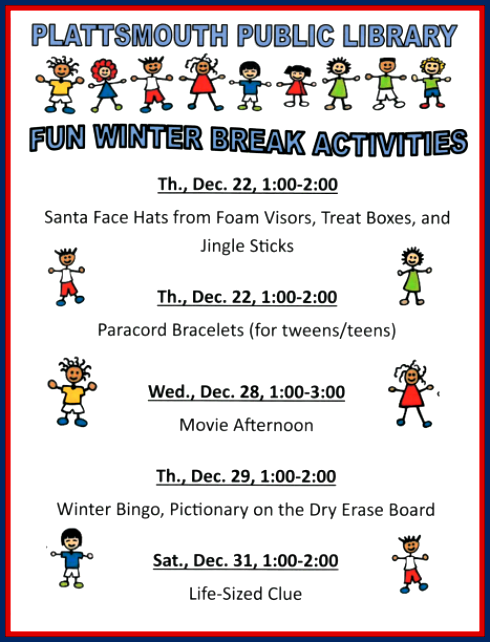 2016 12 21 PLT Library winter fun