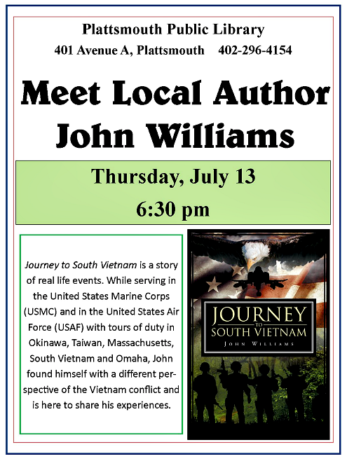 2017 06 14 PLT LibJohn Williams 7.13.2017 local author