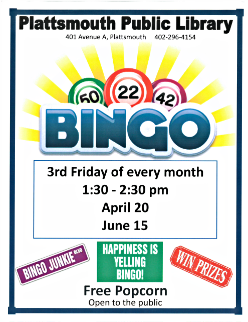 2018 04 11 PLT LIB Bingo April June