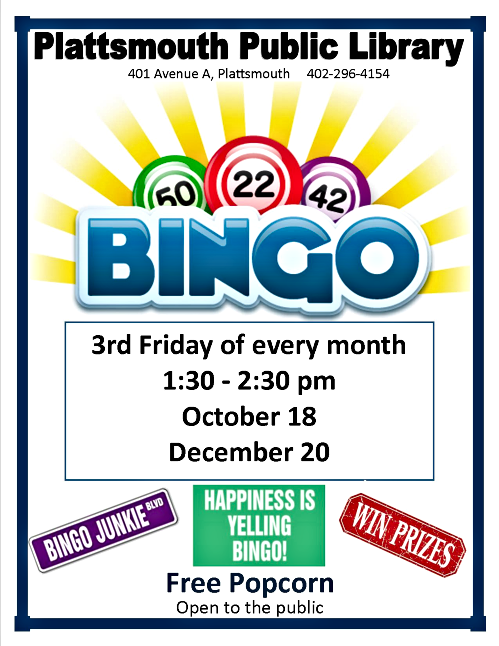 2019 10 09 PLT Library Bingo Oct Dec