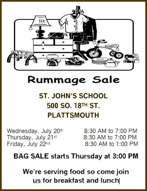 2016 07 13 PLT St. Johns rummage sale