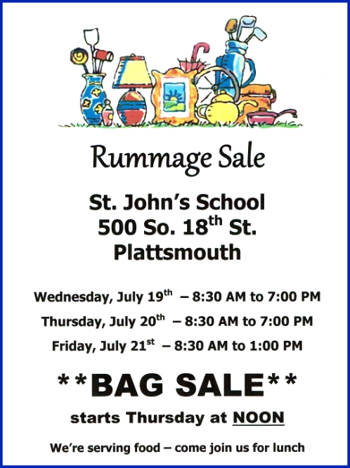 2017 07 05 PLT St Johns Rummage Sale