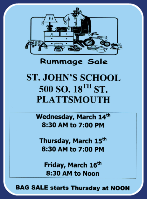 2018 02 28 PLT St Johns Rummage Sale