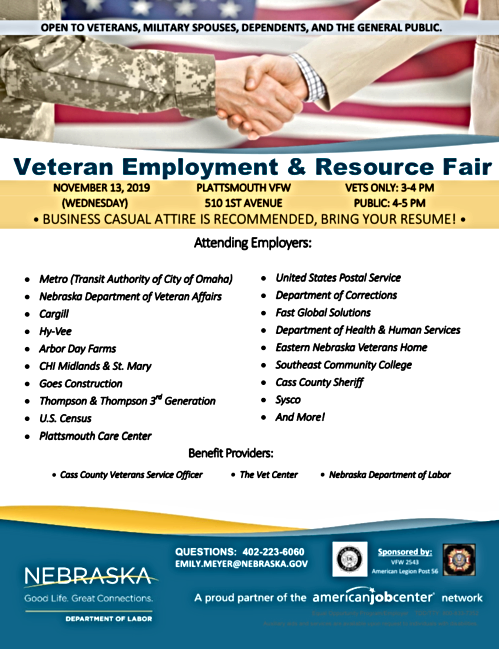 2019 11 13 PLT VFW job fair