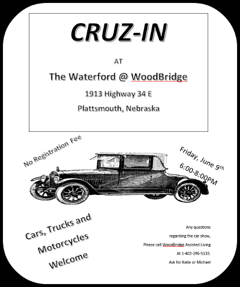 2017 05 24 PLT Waterford Car Show flyer