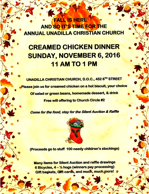 2016 10 26 Unadilla Christian Church dinner