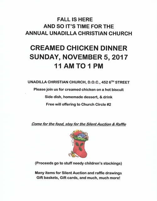 2017 10 04 UNA Christian Church Crm Ckn Dinner