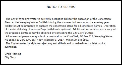 2017 01 25 WW Concessions bidders