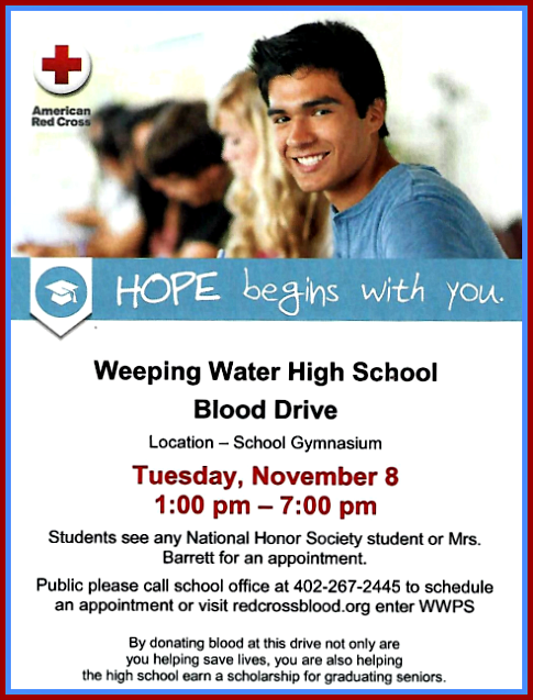2016 11 02 WW HS blood drive