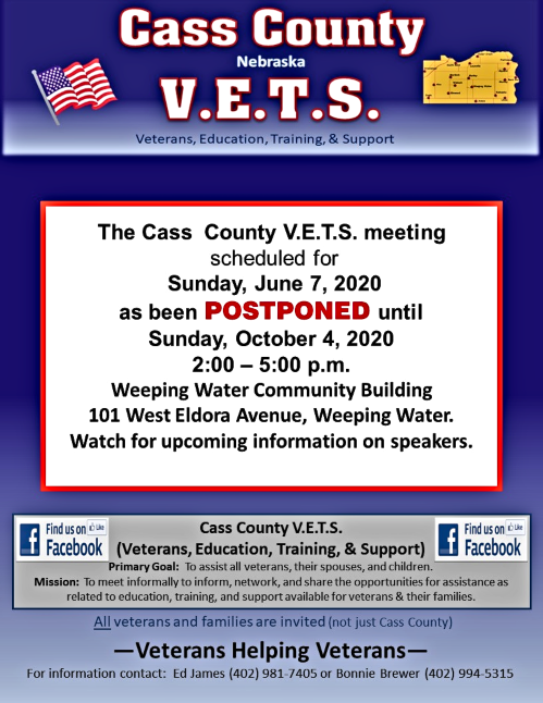 2020 05 27 Cass County VETS June 7 2020 cancelled 1