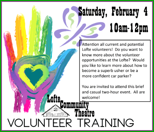 017 01 25 LOFTE Volunteer Training