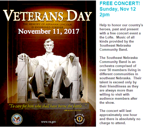 2017 10 25 LOFTE Vets Day program
