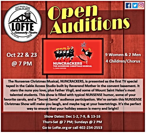 2018 10 03 LOFTE Auditions Nuncrackers
