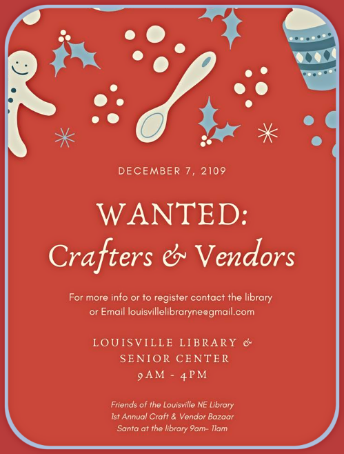 2019 11 13 LSV Library wanted craft fair