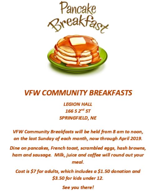 2019 01 02 SPR VFW COMMUNITY BREAKFASTS 1